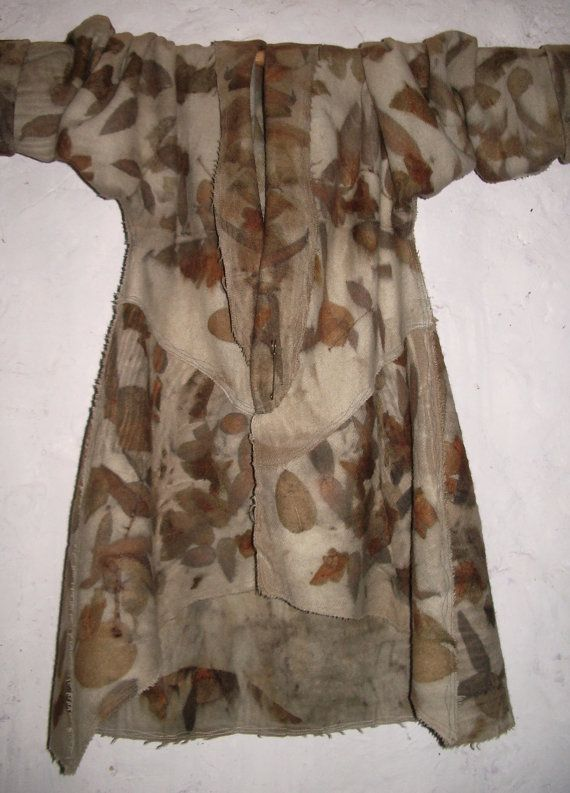 Upcycled NZ woolen blanket coat eco dyed with by IndigoBushStudios, $240.00