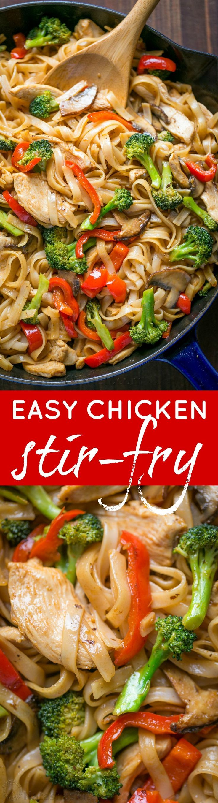A quick and easy stir fry recipe thats done in 30 min! It's perfect for busy weeknights and healthier than takeout! Watch the easy stir fry video recipe. | http://natashaskitchen.com