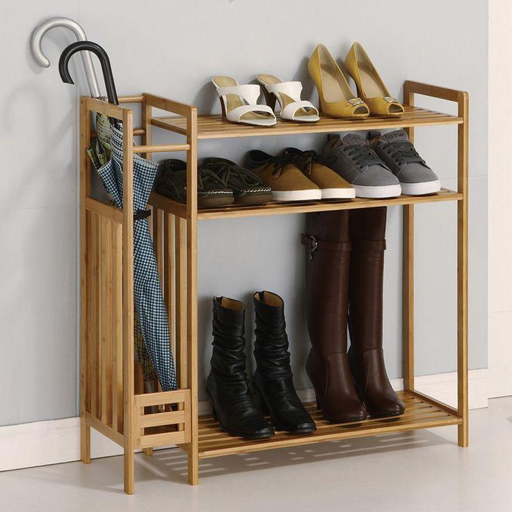 Neu Home 3-Tier Stackable Shoe Rack & Storage, Beig/Green (Beig/Khaki)