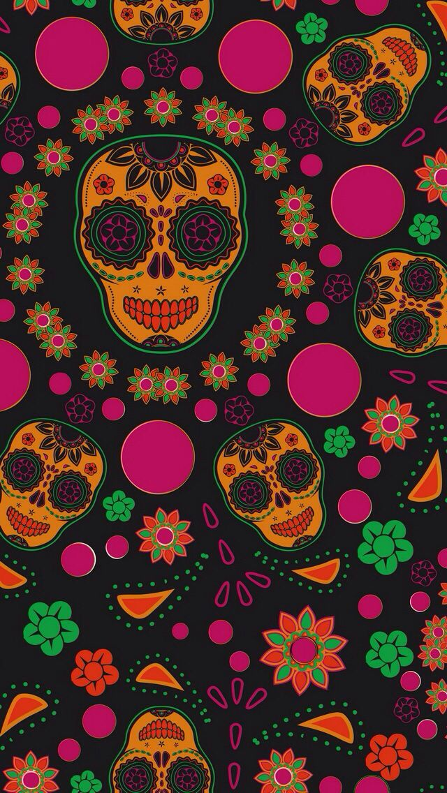 Sugar skull wallpaper for iphone 6 galleryimage best 20 skull wallpaper iphone ideas on screensaver voltagebd Choice Image