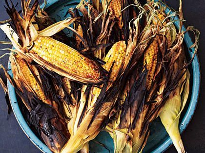 Grilled in its husk, the corn takes on a wonderful, lightly charred flavor while its sugars caramelize and intensify. Soaking in salted water lightly seasons the corn and helps keep it moist as it grills. Then, since the silks have been removed, just peel and enjoy.