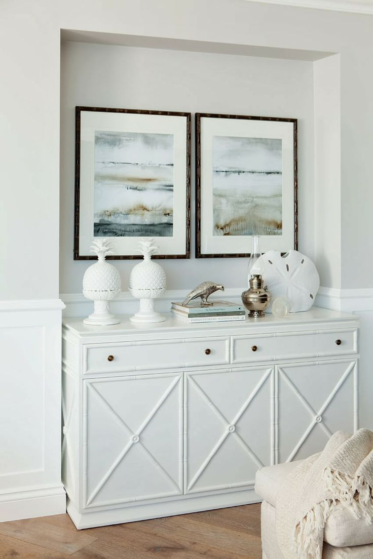 (Or what to do underneath ours when we finally demolish our 80's bar...) faux bamboo white console
