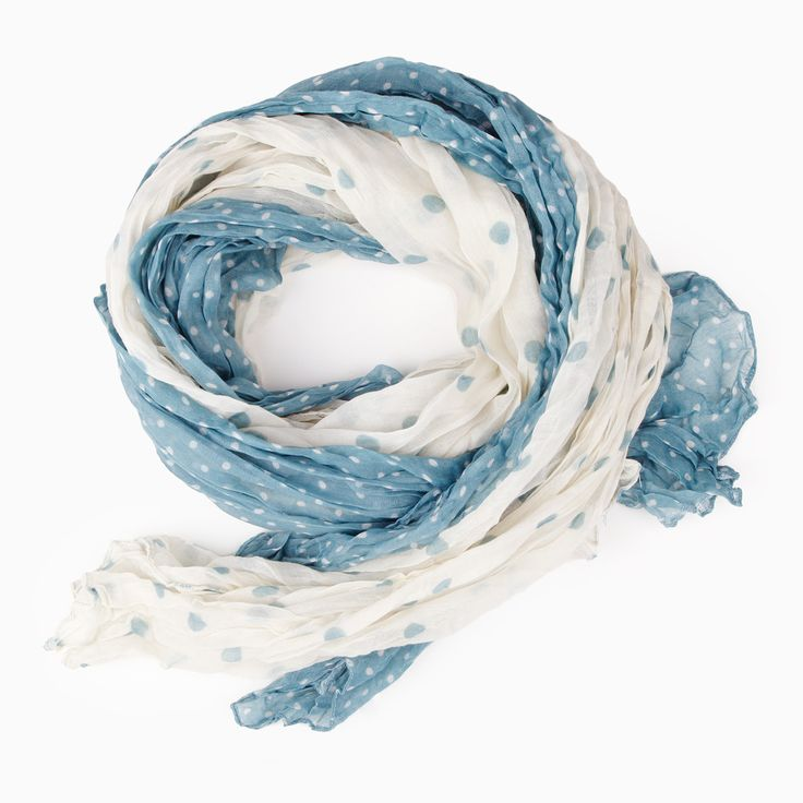 dual polka dot scarf.: Polkadot Dual, Summer Scarves, Polka Dots Prints, Lightweight Dual, Lightweight Fabrics, Prints Scarfs, Polka Dots Scarfs, Dual Polka, Dailylook Scarfs