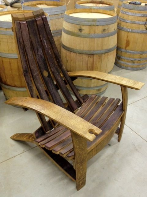 Wine Barrel Adirondack Chairs Wood Chair In 2019