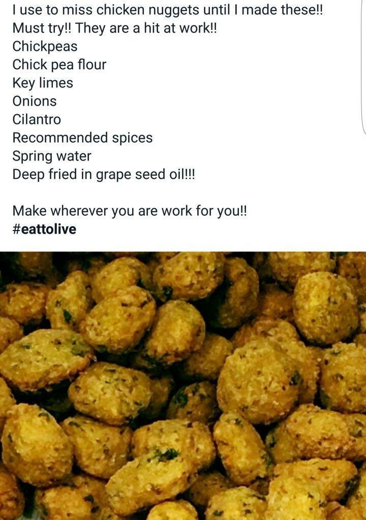Alkaline Vegan chickpea nuggets with Dr Sebi approved ingredients