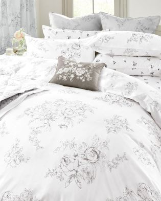 Create a haven that you can't wait to go back to with some fresh new bedding. With white and grey a definite trend this season, these are just perfect.