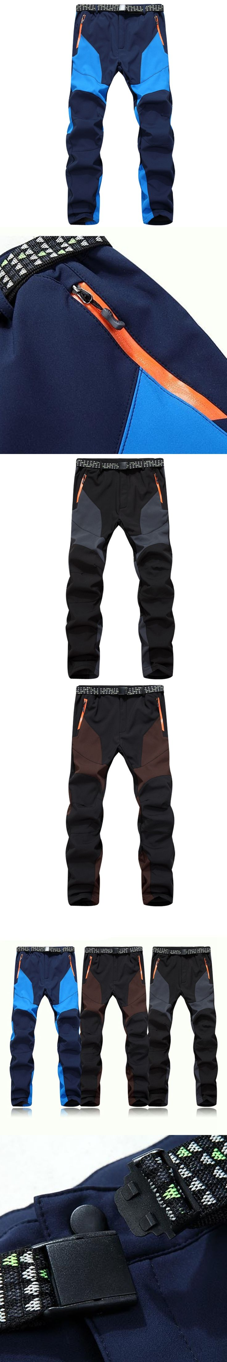 Fleece Pants Winter Warm Pants Windproof Tactical Soft Shell Combat Elastic Jogger Trousers Breathable Thermal Cargo Pants
