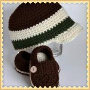 conjunto,kit de croche pra bebe com touca,boina e sapatinho