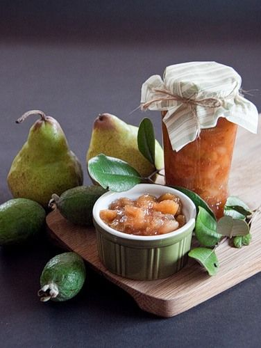 Feijoa and pear jam.