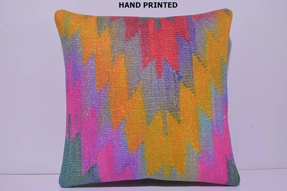 contemporary pillow 20x20 turkish pillow pink designer pillow decorative couch pillow turkish pillow case purple kilim pillow cover 256-50