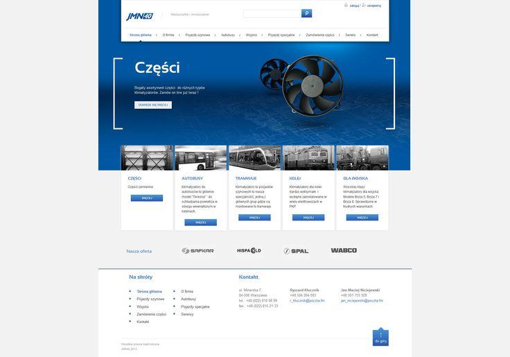 Projekt strony internetowej. Branża technologiczna - producent klimatyzacji.  #industry_website #tech_website #blue_website  http://www.webmedio.pl/