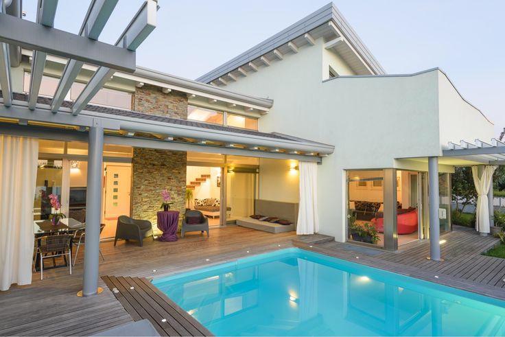 Una villa di lusso #biohaus realizzata a Muggia. #bioedilizia #design #architettura