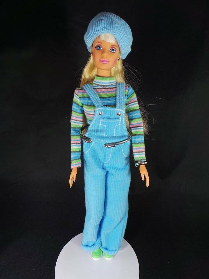 Cool Blue Barbie 1997 Mattel Blue Corduroy Overalls Mattel Barbie Barbie Clothes Barbie Collection