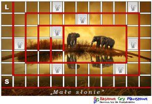 Plansza do gry Małe słonie