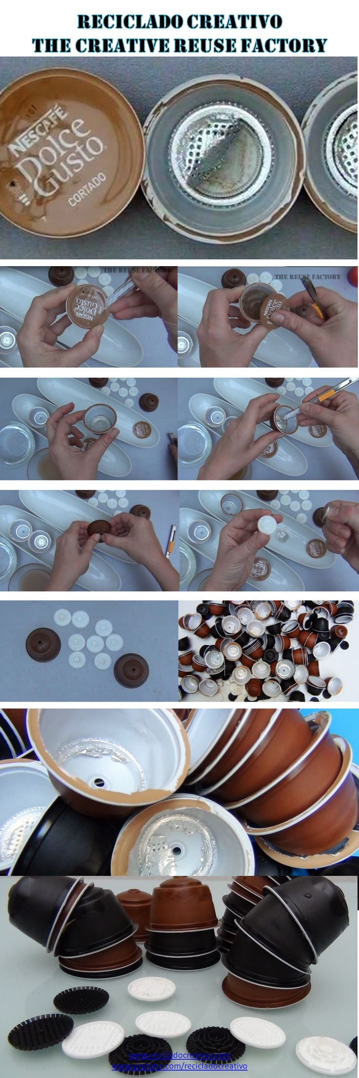 8.How to clean and prepare dolce gusto coffee capsules to recycle them - Cñomo limpiar y preparar para reciclar las cápsulas de café Dolce Gusto