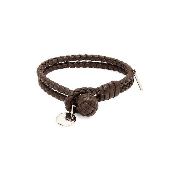 Bottega Veneta Intrecciato-woven knot leather bracelet (915 AED) ❤ liked on Polyvore featuring men's fashion, men's jewelry, men's bracelets, brown, jewelry, mens woven leather bracelets, mens woven bracelets, mens engravable leather bracelets, mens leather braided bracelets and mens engraved bracelets