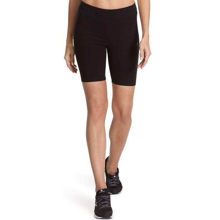 Pantaloni Abbigliamento - Ciclisti donna slim FIT+ NEW neri DOMYOS - Parte bassa