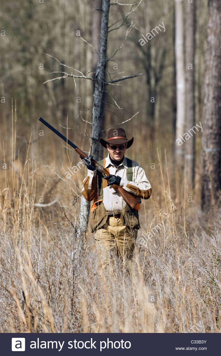 Upland Bird Hunter With A Over And Under Beretta Shotgun During A ...