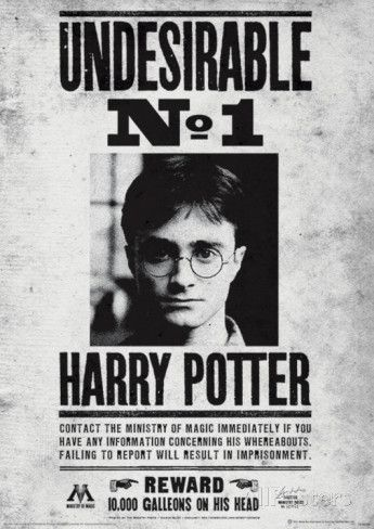 Harry Potter (Undesirable No1) Movie Poster Impressão de alta qualidade na AllPosters.com.br                                                                                                                                                                                 Mais