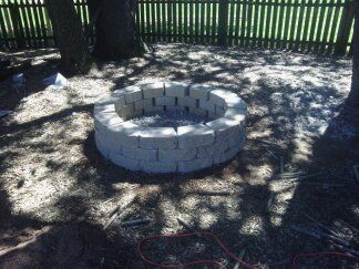 Picture of 40 Inch (Inner) Diameter Retaining Wall Fire Pit ~ $110