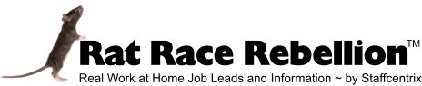 Rat Race Rebellion screens job leads and lists tons of work from home jobs.