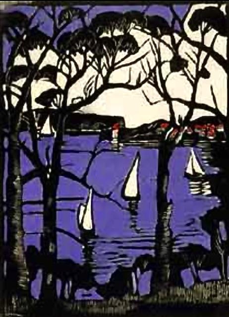 Lino Cut Print : Margaret Preston