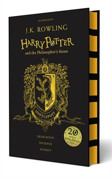 Celebrate 20 years of Harry Potter magic with four special editions of Harry Potter and the Philosopher''s Stone . Gryffindor, Slytherin, Hufflepuff, Ravenclaw . Twenty years ago these magical words and many more flowed from a young writer''s pen, an orphan called Harry Potter was freed from the cupboard under the stairs - and a global phenomenon started. Harry Potter and the Philosopher''s Stone has been read and loved by every new generation since. To mark the 20th a...