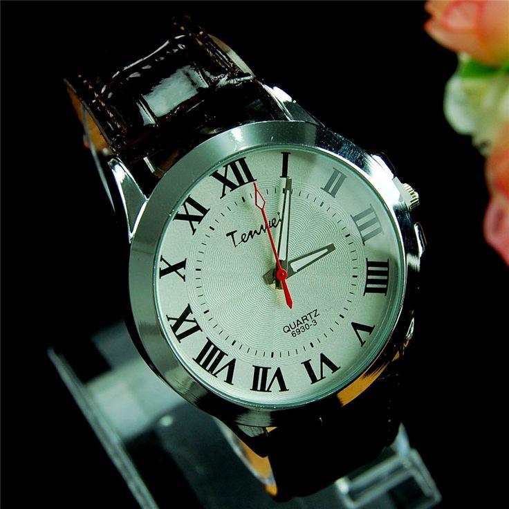 Luxury Brand Кварцевые Часы Мужчины Повседневная Наручные Часы Дизайн Моды Римские цифры Простой Ручной Часы PU Кожаный Ремешок Часы Человек 2016 #men, #hats, #watches, #belts, #fashion