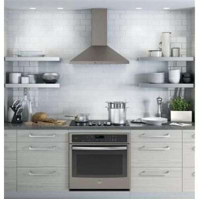 GE 30 in. Convertible Chimney Range Hood in Slate-JVW5301EJES - The Home Depot