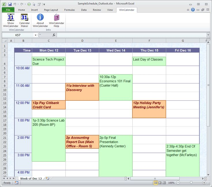 online schedule creator