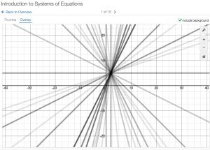 Desmos Teacher Activity Builder - Systems of Linear Equations