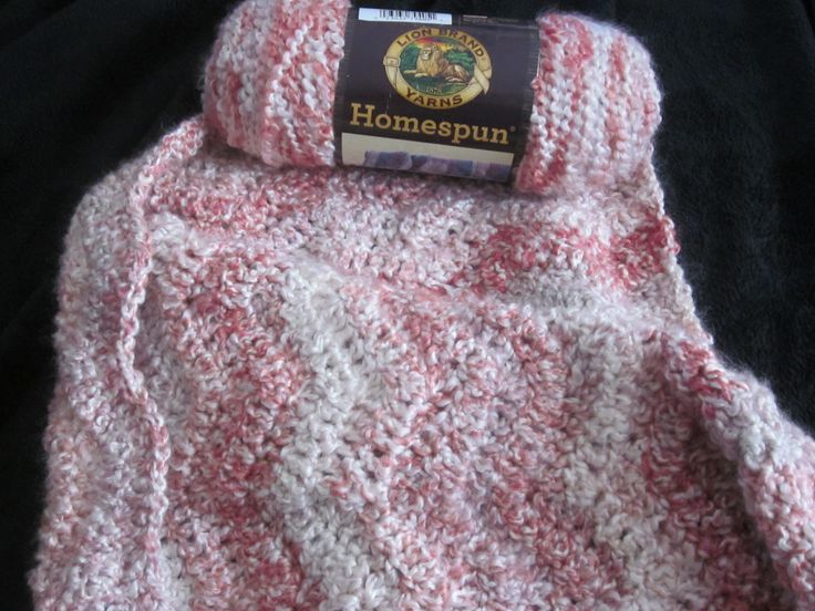 "Baby Girl Afghan. This pattern works up quickly.  I used ""Homespun"" yarn.   Adapted from ""Spa Garden"" pattern (Lion Brand)  www.lionbrand.com"