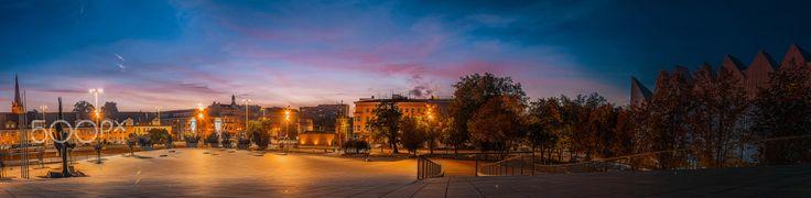 Modern Square near philharmonic in Szczecin.