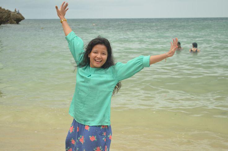 Padang-Padang Beach in Uluwatu, Bali 31 Desember 2014