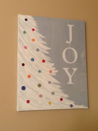Christmas Paintings On Canvas Easy Ideas In Home 32