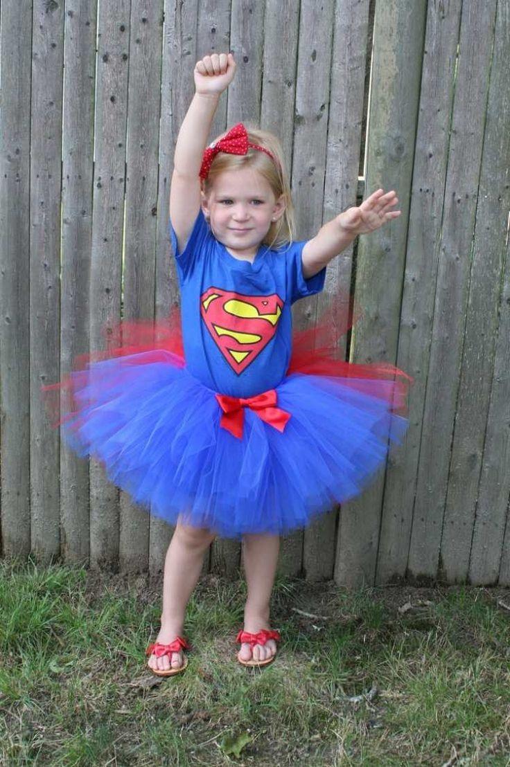Tutu für Supergirl in Rot und Blau