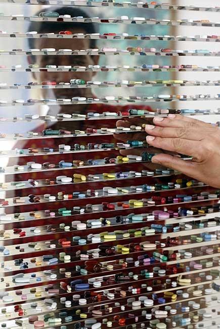 An art installation in Munich, Germany. Pills, pills, and more pills!
