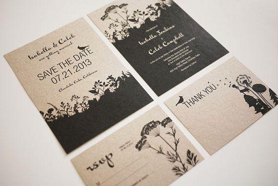 Nature Printable Wedding Invitation Suite,