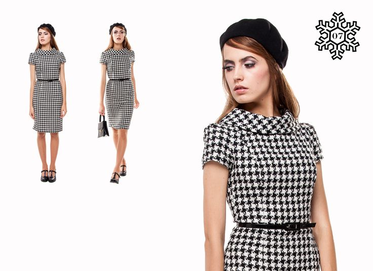 Marmalade-shop Mod Houndstooth dress