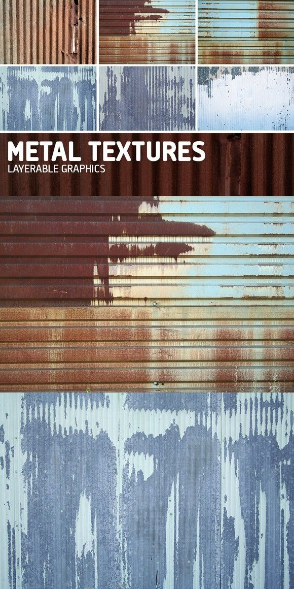 Metal Texture Overlays-Pack of 6. Textures. $4.00