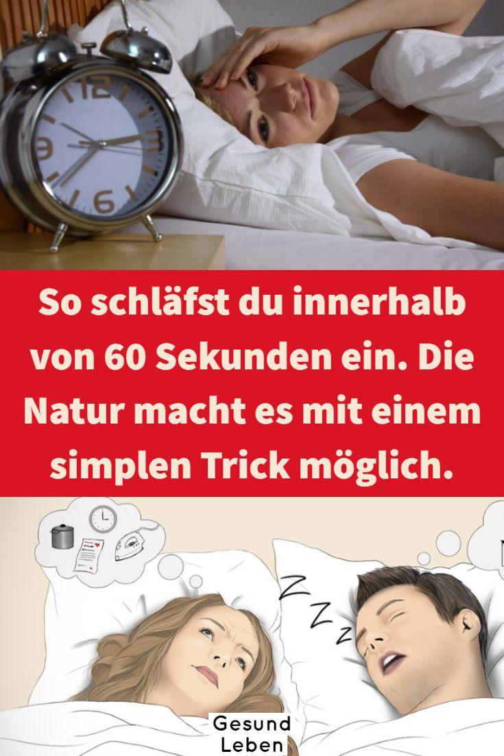 So schläfst du innerhalb von 60 Sekunden ein. Die Natur macht es mit einem simplen Trick möglich.