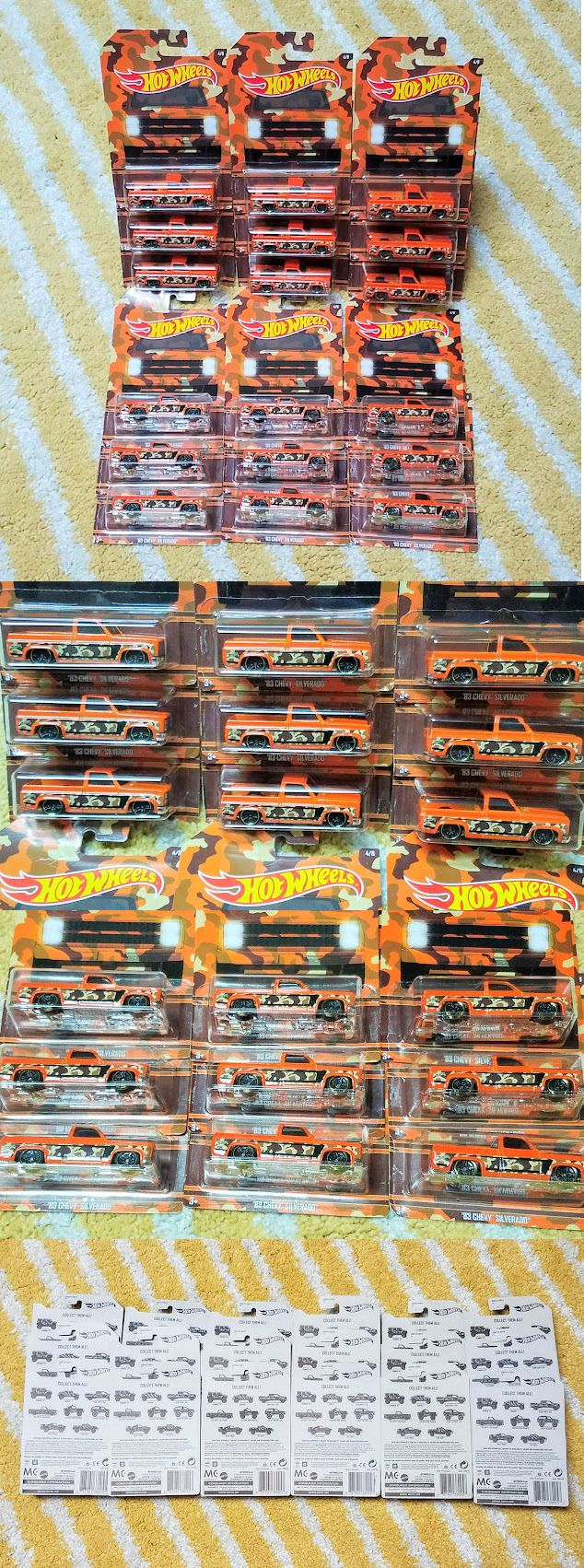Contemporary manufacture 180506 lot of 18 hot wheels walmart camouflage camo set 2017 83 chevy