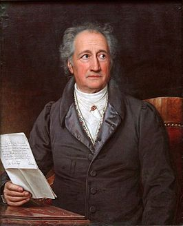 Goethe in 1828, door Joseph Karl Stieler