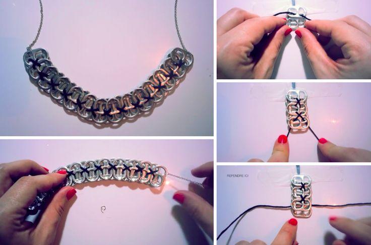 DIY : Fabriquez un collier original avec des capsules de canettes