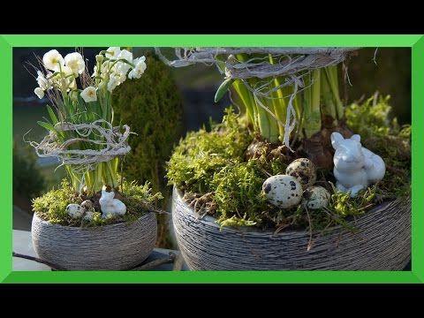 DIY - Frühlingsdeko selber machen - Vogelnest aus Naturmaterial/bezaubernde Frühlings- und Osterdeko - YouTube