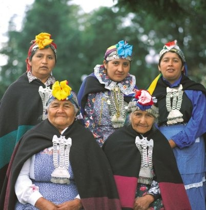 Group Portrait of modern day Mapuche Women