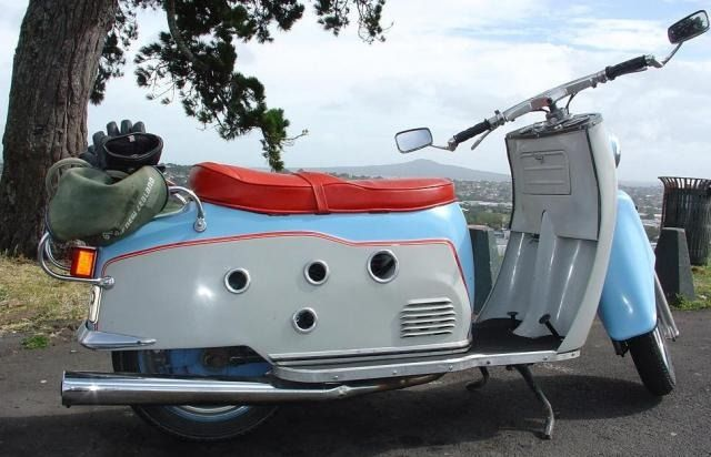 The Maicoletta - the fastest motor scooter manufactured in the 50s with a top speed of over 70mph.