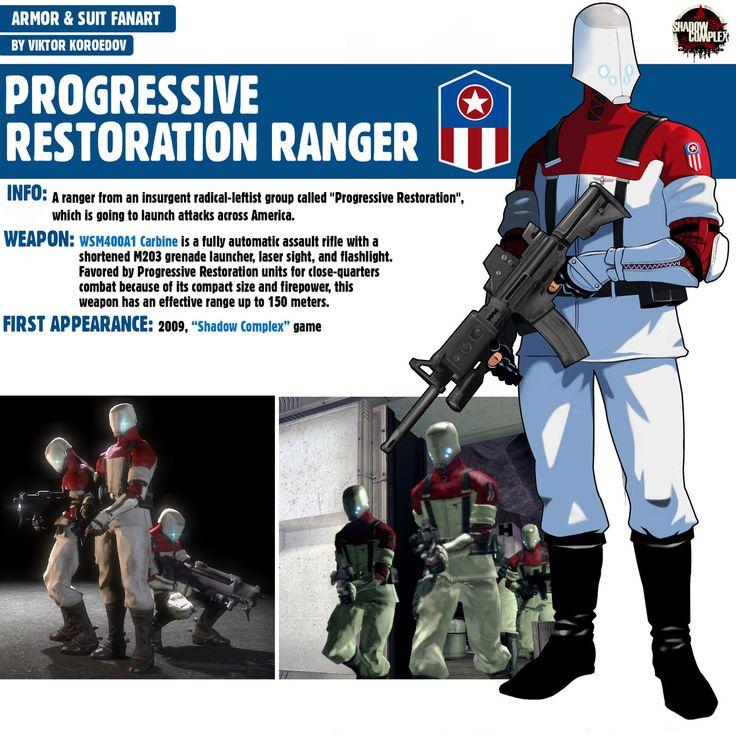 Progressive Restoration Ranger Shadow Complex by Pino44io