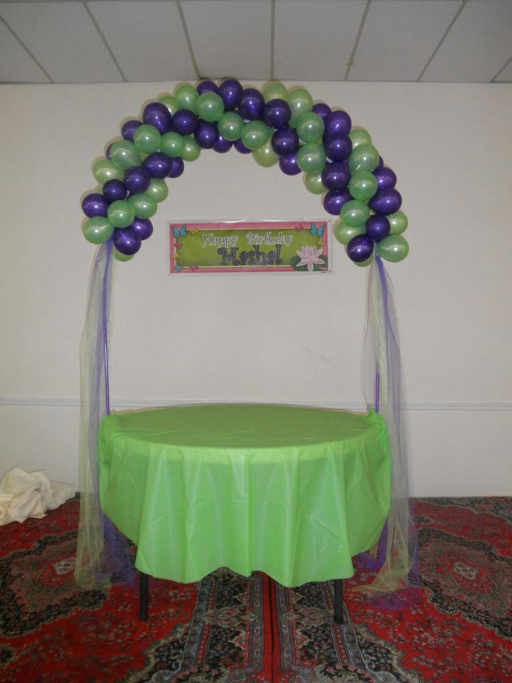 Cake Table Decorations With Balloons : 82 best Balloon table arch images on Pinterest Balloon ...