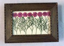 Manualidades y Bellas Artes. Álbum de fotos de flores secas.